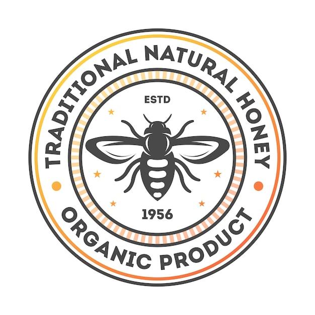 Getrennter kennsatz des traditionellen natürlichen honigs weinlese Premium Vektoren