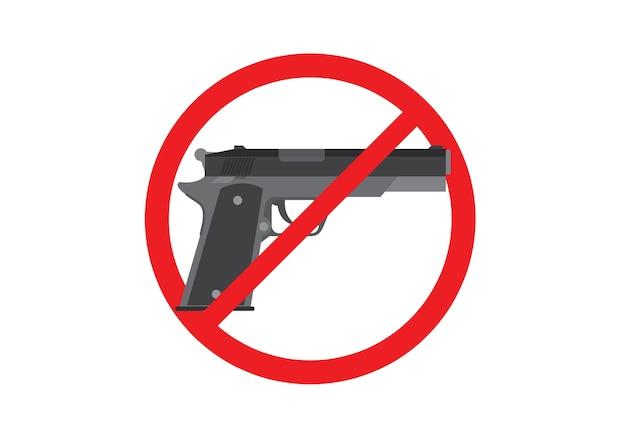Gewehrverbotszeichen Premium Vektoren