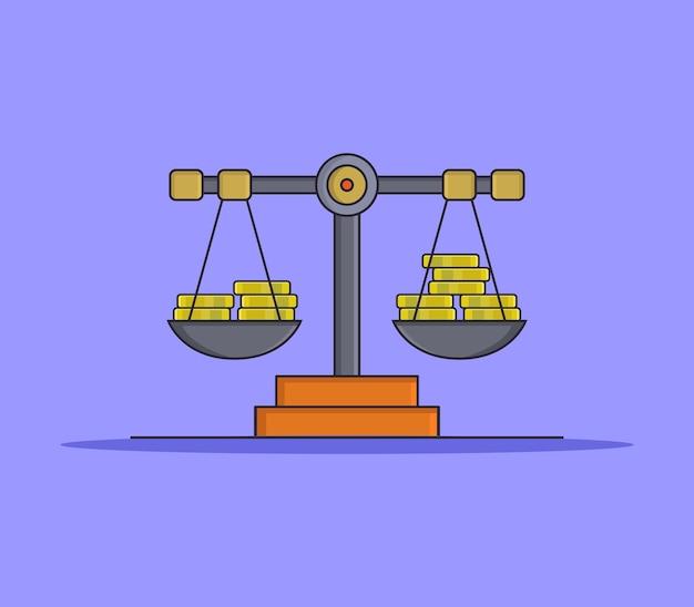 Gewichtsskala auf lila Kostenlosen Vektoren