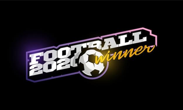 Gewinner 2020 fußball-logo Premium Vektoren