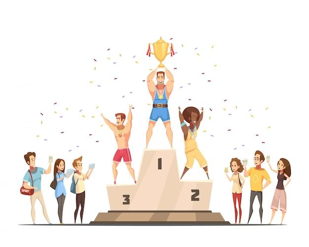 Gewinner des podiums Kostenlosen Vektoren