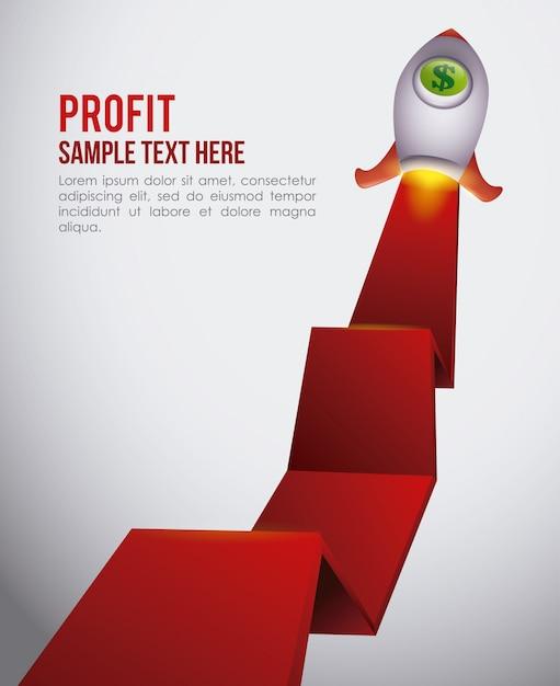 Gewinngestaltung Premium Vektoren