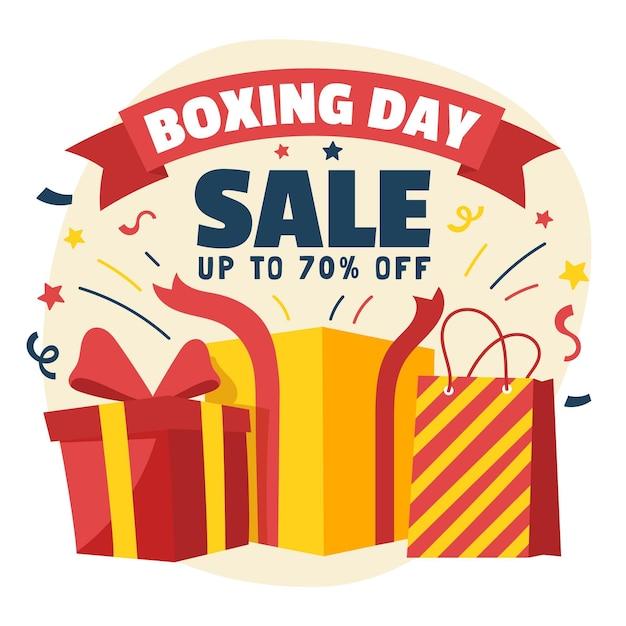 Gezeichnete boxing day sale geschenke Kostenlosen Vektoren