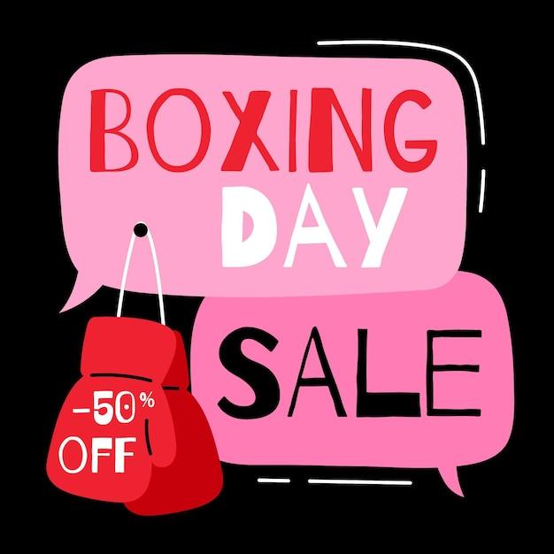 Gezeichnete geschenke des boxing day sale-ereignisses Kostenlosen Vektoren
