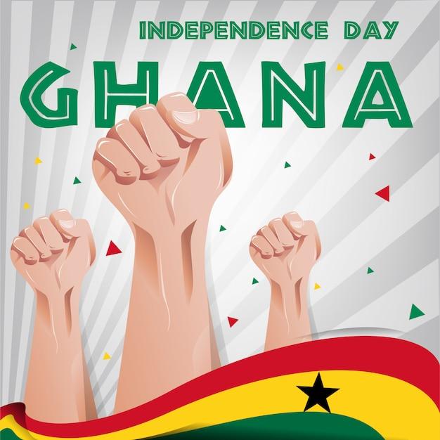 Ghana independence day hintergrund Premium Vektoren