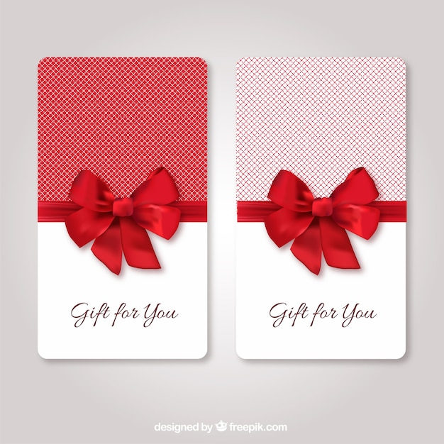 Gift cards template Kostenlosen Vektoren
