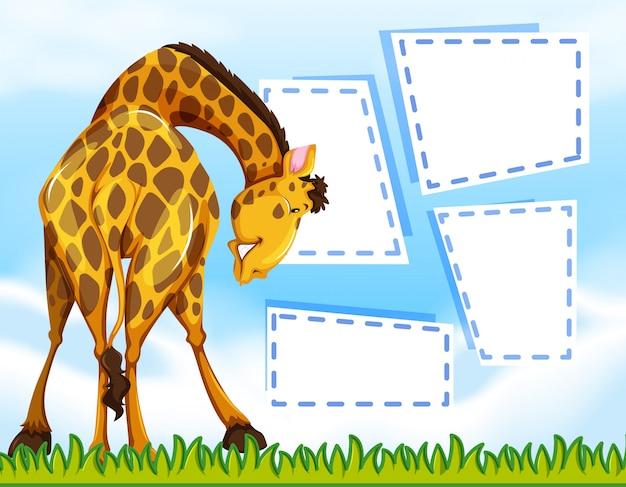Giraffe auf hinweis vorlage Kostenlosen Vektoren