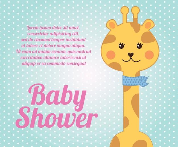 Giraffe babyparty Premium Vektoren