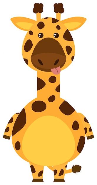 Giraffe mit schwellengesicht Kostenlosen Vektoren