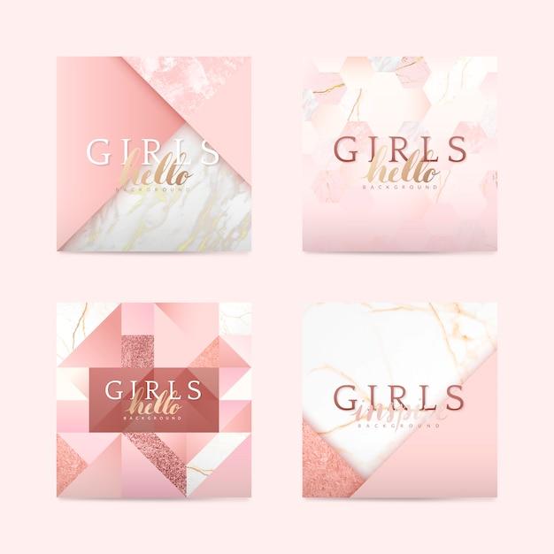 Girly rosa hintergrund Kostenlosen Vektoren