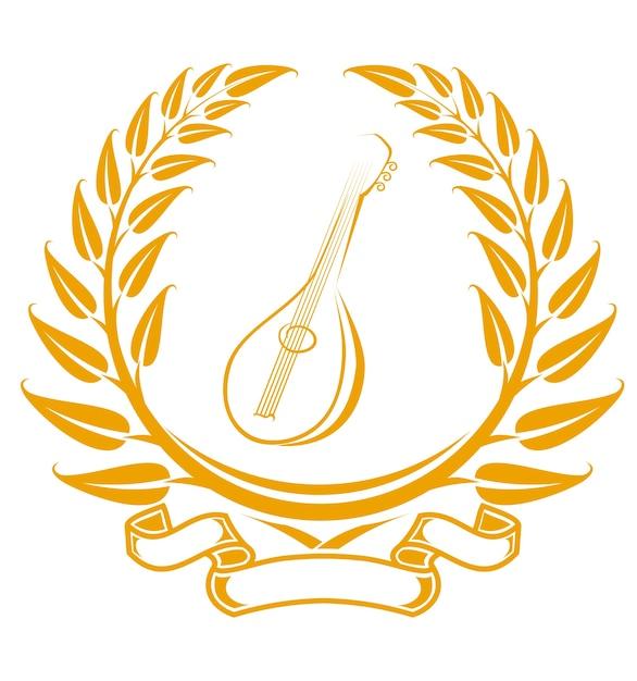 Gitarren-symbol Premium Vektoren