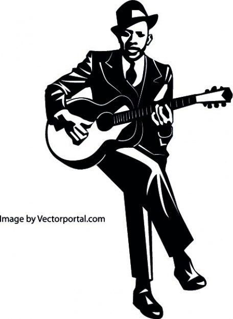 gitarrist mit gitarre download der kostenlosen vektor. Black Bedroom Furniture Sets. Home Design Ideas