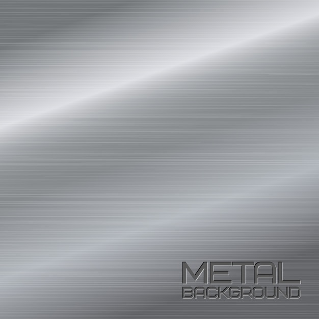 Glänzende abstrakte metall hintergrund mit stahl silber chrom oberfläche vektor-illustration Kostenlosen Vektoren