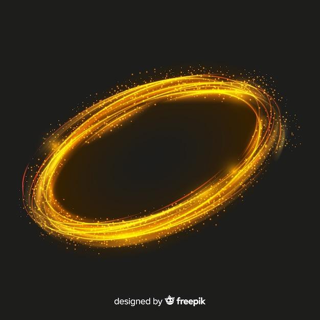 Glänzende partikel spirale realistischen stil Kostenlosen Vektoren