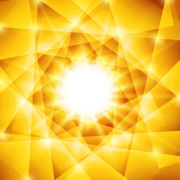 Glänzende polygonal gelben und braunen hintergrund Kostenlosen Vektoren