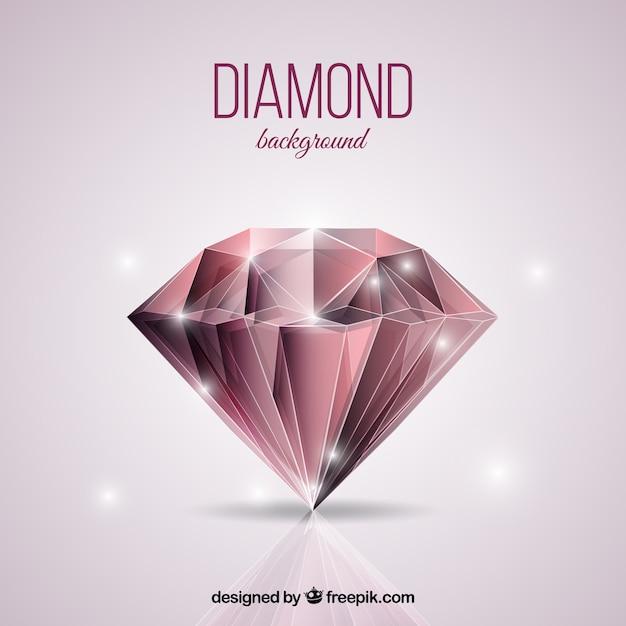 Glänzender diamant hintergrund Kostenlosen Vektoren