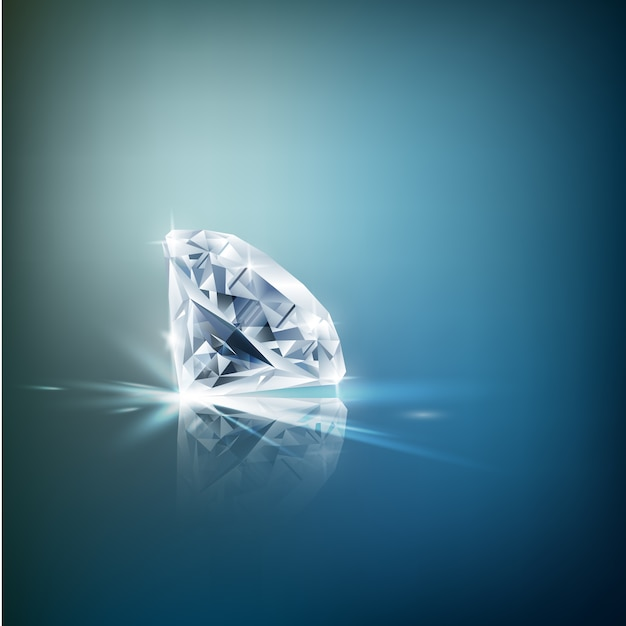 Glänzender diamant-hintergrund Premium Vektoren