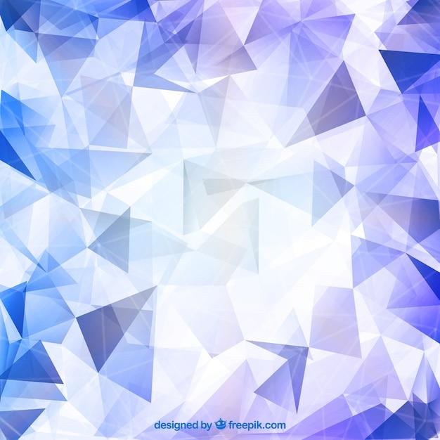 Glänzender diamant polygonal hintergrund Kostenlosen Vektoren
