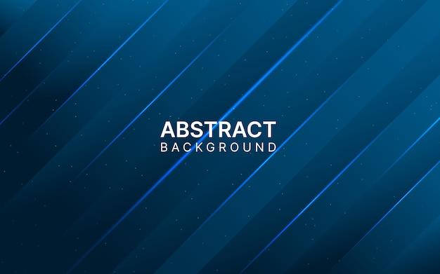 Glänzender dunkelblauer abstrakter hintergrund. Premium Vektoren