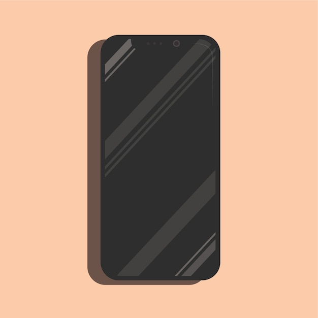 Glänzender iphone x smartphonespott herauf realistischen vektor Premium Vektoren