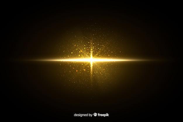 Glänzender partikeleffekt der explosion nachts Kostenlosen Vektoren