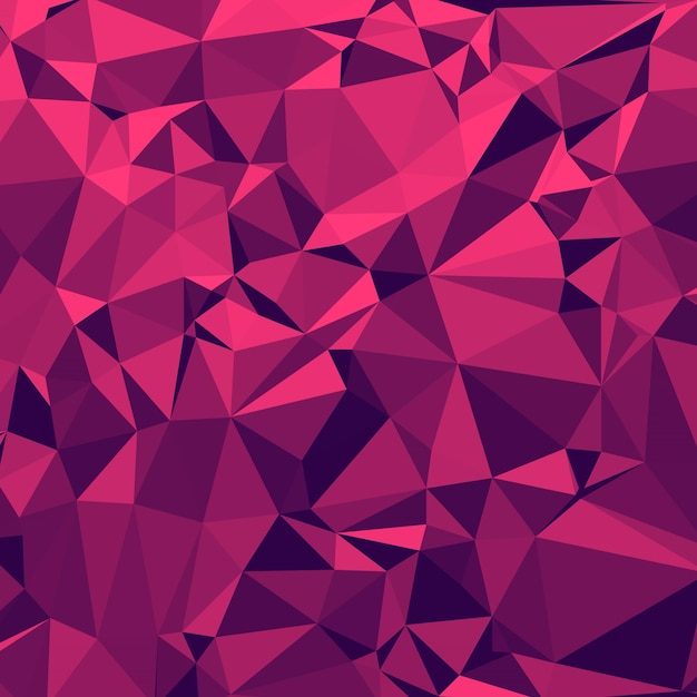 Glänzender polygonaler hintergrund in erdbeere margrita tont Premium Vektoren