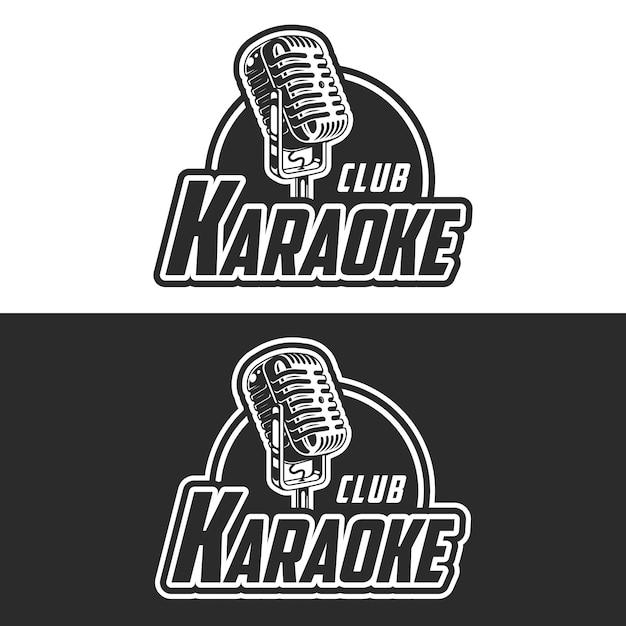 Glänzendes karaoke-club-vektoretikett Kostenlosen Vektoren