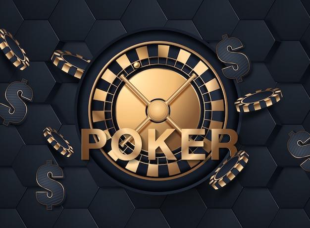 Glänzendes kasino-fahnen-plakat Premium Vektoren