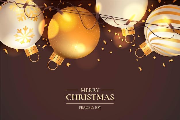 Glänzendes weihnachten mit eleganter dekoration Kostenlosen Vektoren