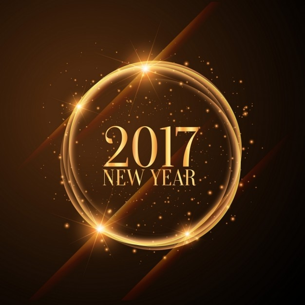 Glänzenden goldenen Kreise mit 2017 guten Rutsch ins neue Jahr ...