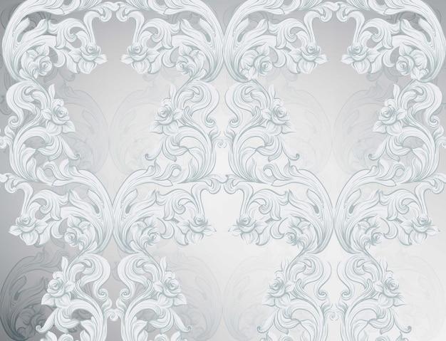 Glänzender Hintergrund Des Barocken Musters. Ornament Dekor Für Einladung,  Hochzeit, Grußkarten. Vektor