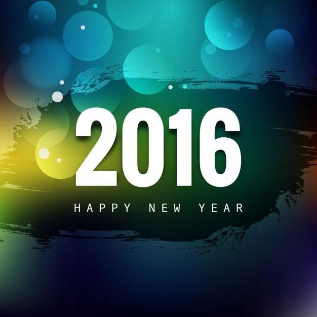 Glänzendes neues Jahr 2016 Gruß | Download der kostenlosen Vektor