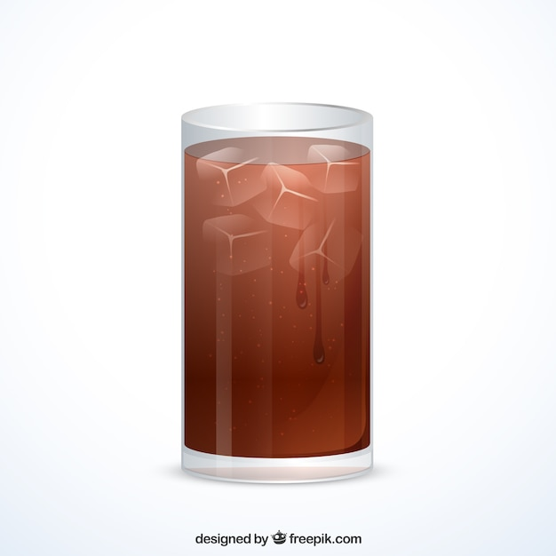 Glas alkoholfreies getränk Kostenlosen Vektoren
