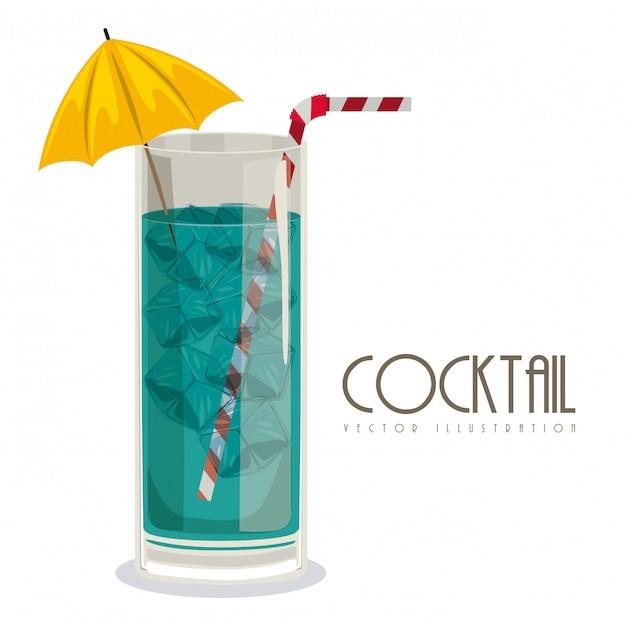 Glas cocktail mit getränk Premium Vektoren