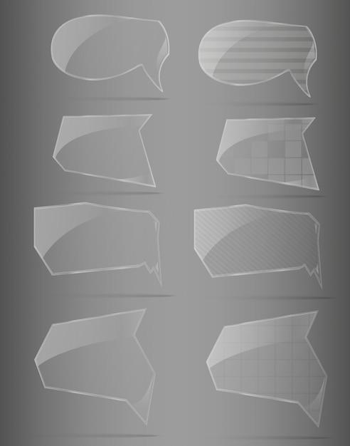 Glasrahmenset. vektorillustration. Premium Vektoren