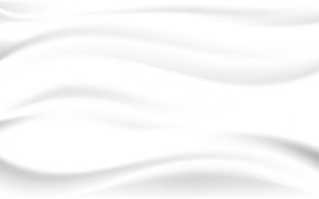 Glatte beschaffenheit des weißen seidensatinhintergrundes Premium Vektoren