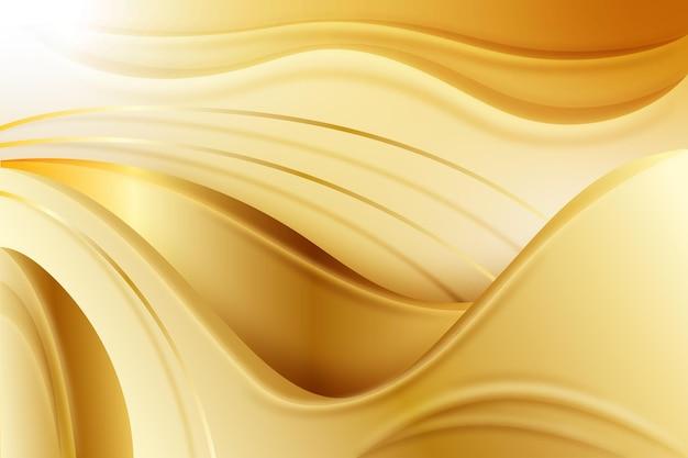 Glatter goldener wellenhintergrund Kostenlosen Vektoren