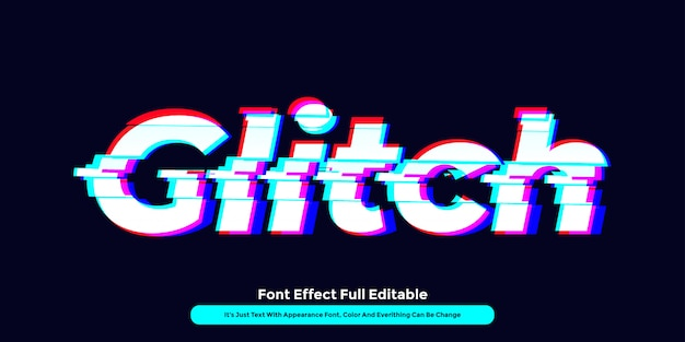 Glitch-technologie-texteffekt Premium Vektoren