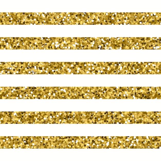 Glitter striped pattern mit sparkly gold-effekt Premium Vektoren