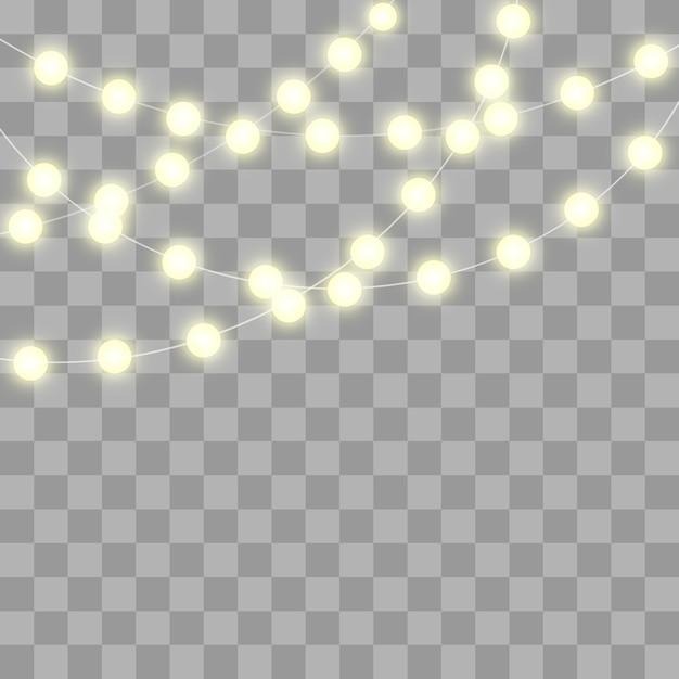 Glitzernde glühlampen Premium Vektoren