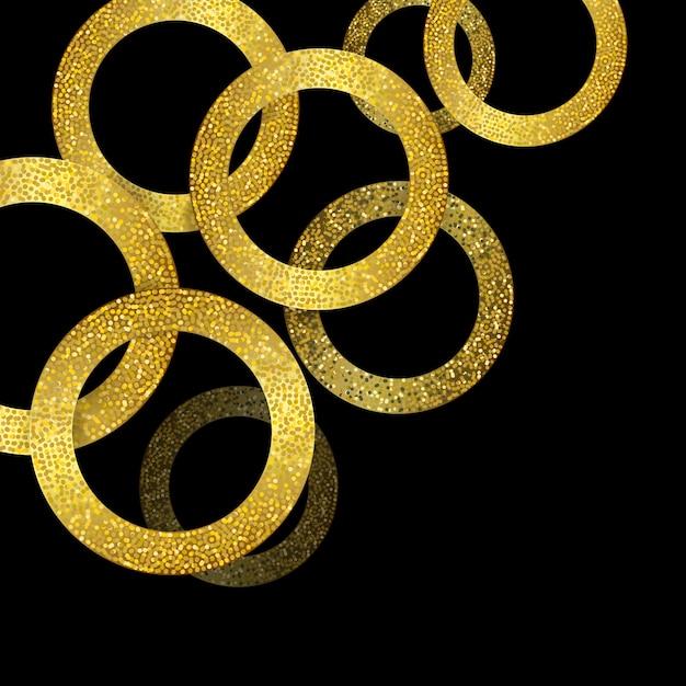 Glitzerndes gold kreist hintergrund ein Kostenlosen Vektoren