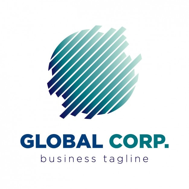 Global corporation logo Kostenlosen Vektoren