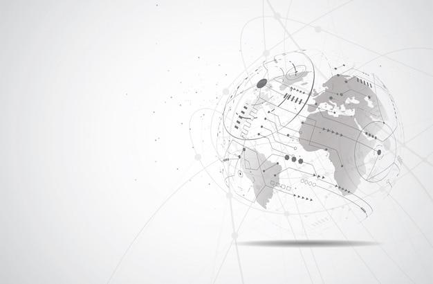Globale netzwerkverbindung Premium Vektoren