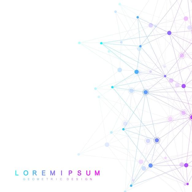 Globale netzwerkverbindungen mit punkten und linien. drahtgitterhintergrund. abstrakte verbindungsstruktur. polygonaler hintergrund. Premium Vektoren