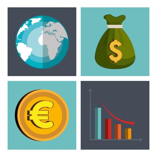 Globale wirtschaft Kostenlosen Vektoren