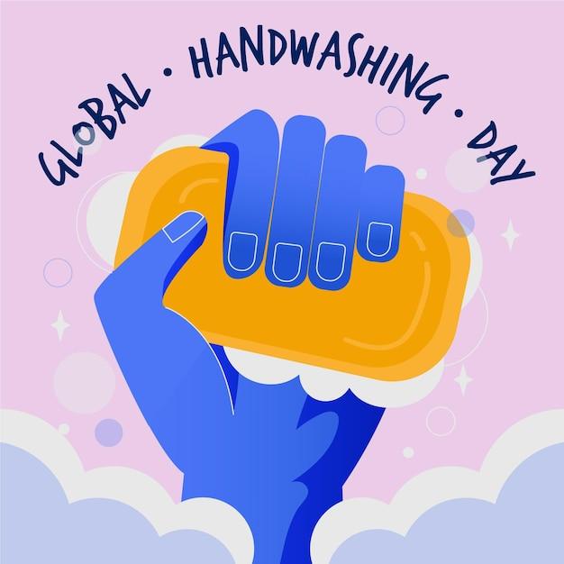 Globaler handwaschtag Kostenlosen Vektoren