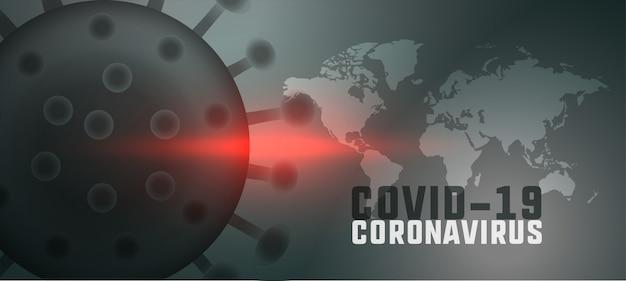 Globaler hintergrund der coronavirus-pandemie mit weltkarte Kostenlosen Vektoren