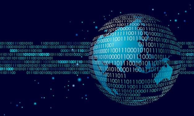 Globaler internationaler verbindungsinformations-datenaustausch, planetenraum Premium Vektoren