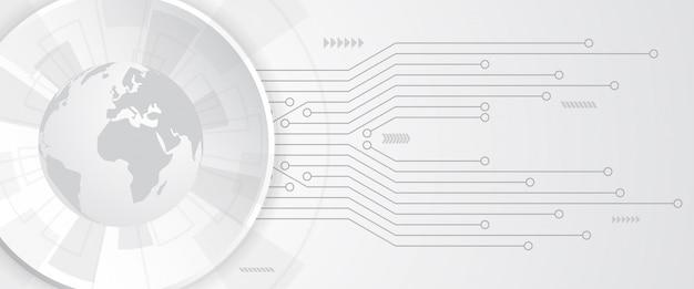 Globaler technologiehintergrund Premium Vektoren