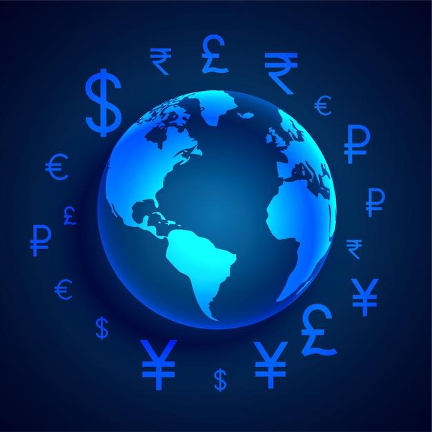 Globales digitales geldtransferkonzeptdesign Kostenlosen Vektoren